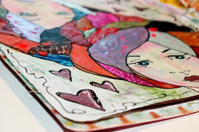 Reina de Corazones Pop - tutorial artjournal 9