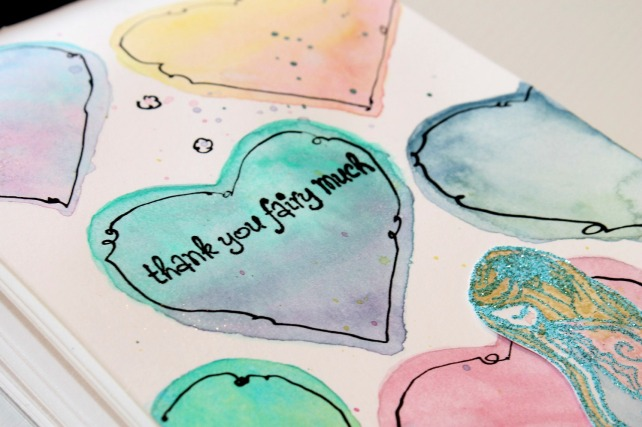 tarjeta corazones acuarela by bienve prieto cinderella 20