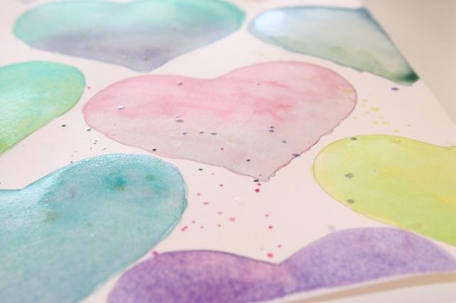 tarjeta corazones acuarela by bienve prieto cinderella 7